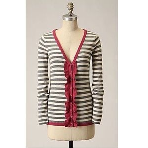 Sparrow Frilled and Thrilled Striped Cardigan